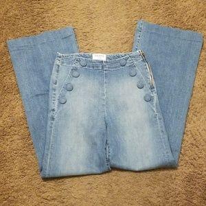 Frame denim high waist flare sailor jeans